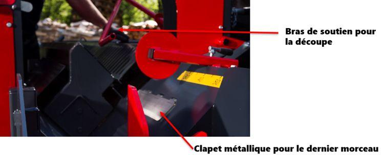 Bras de soutien sur le moulin à bois de chauffage Pilkemaster EVO36 HC Lite